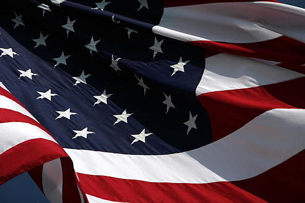 american flag (Photo by Ronald Martinez/Getty Images)