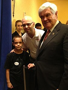 Newt Gingrich with Jeremy