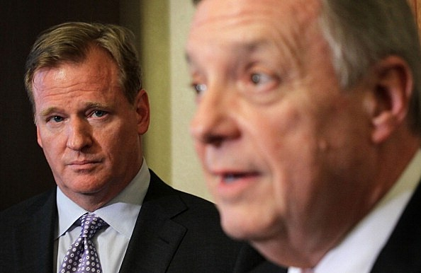 Dick Durbin and Roger Goodell