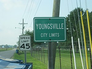Youngsville City Sign