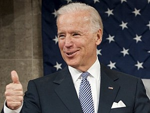 Vice President Joe Biden Gestures Before The State Of The Union Address