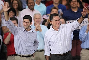 Presidential Candidate Mitt Romney Campaigns with His Vice Presidential Pick Rep. Paul Ryan
