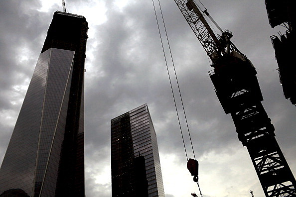 Topping Off Ceremony For Four World Trade Center