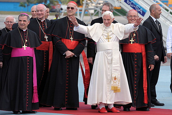 Pope Benedict XVI  (Photo by L'Osservatore Romano Vatican-Pool/Getty Images)