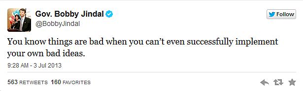 Gov. Bobby Jindal Tweet