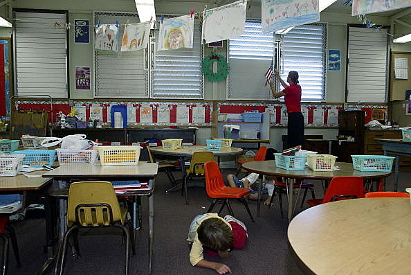 Hawaiian Kindergardeners Practice Lockdown Drills