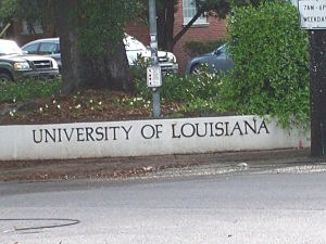 University Of Louisiana Sign
