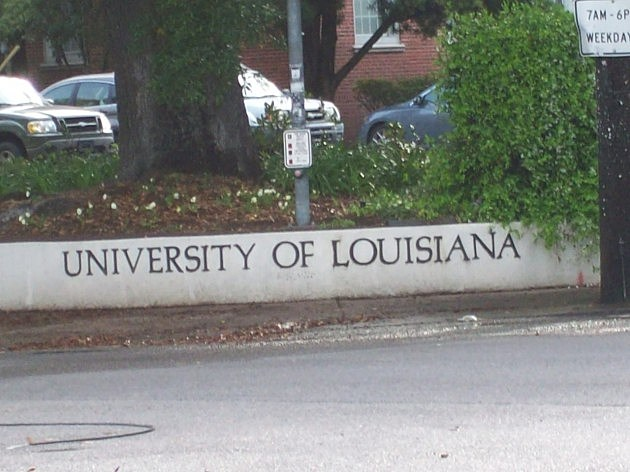 University Of Louisiana Sign