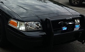 police car bumper lights KPEL photo