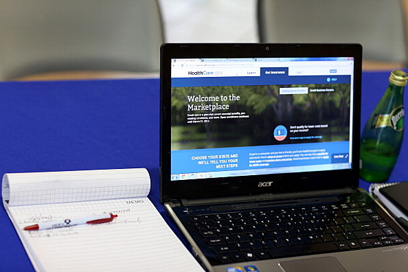 Affordable Care website (Photo by Joe Raedle/Getty Images)