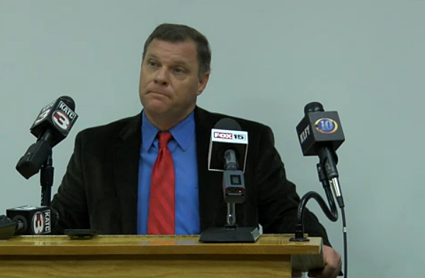 Kip Judice KATC screenshot of press conference