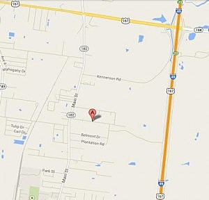 St. Landry Parish Explosion, google maps