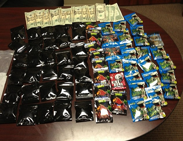 Synthetic Marijuana and Money, photo courtesy of the Crowley Police Department