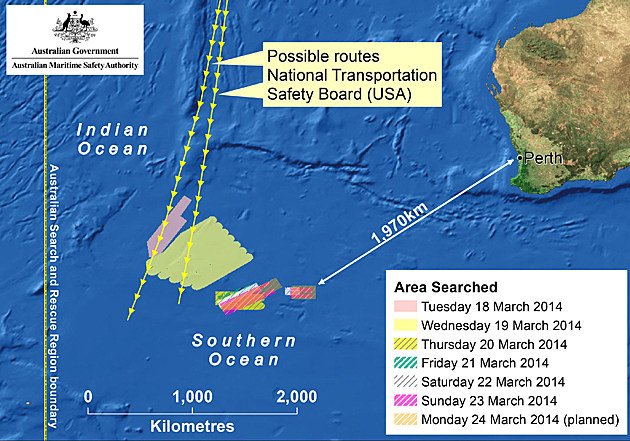 Search Continues For Malaysian Airliner Debris Found In Indian Ocean