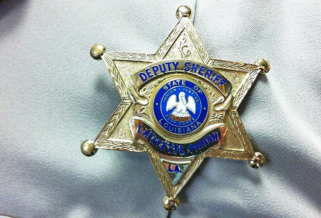 Lafayette Parish Sheriff Deputy badge KPEL photo