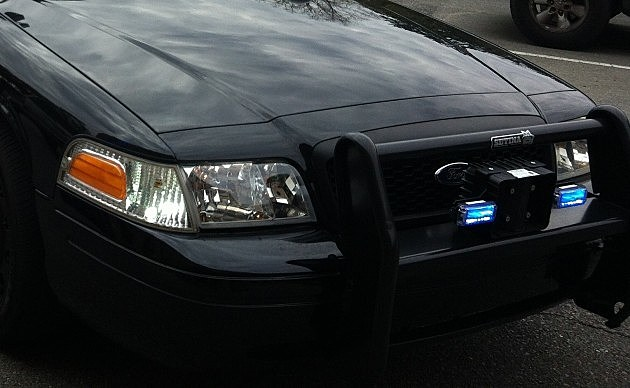 police car bumper lights photo by Ken Romero