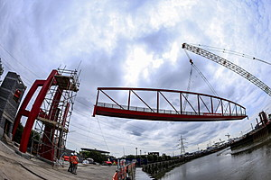 bridge construction (Photo by Miles Willis/Getty Images for Ballymore)