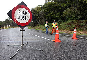 road closed sign (Photo by Hagen Hopkins/Getty Images)
