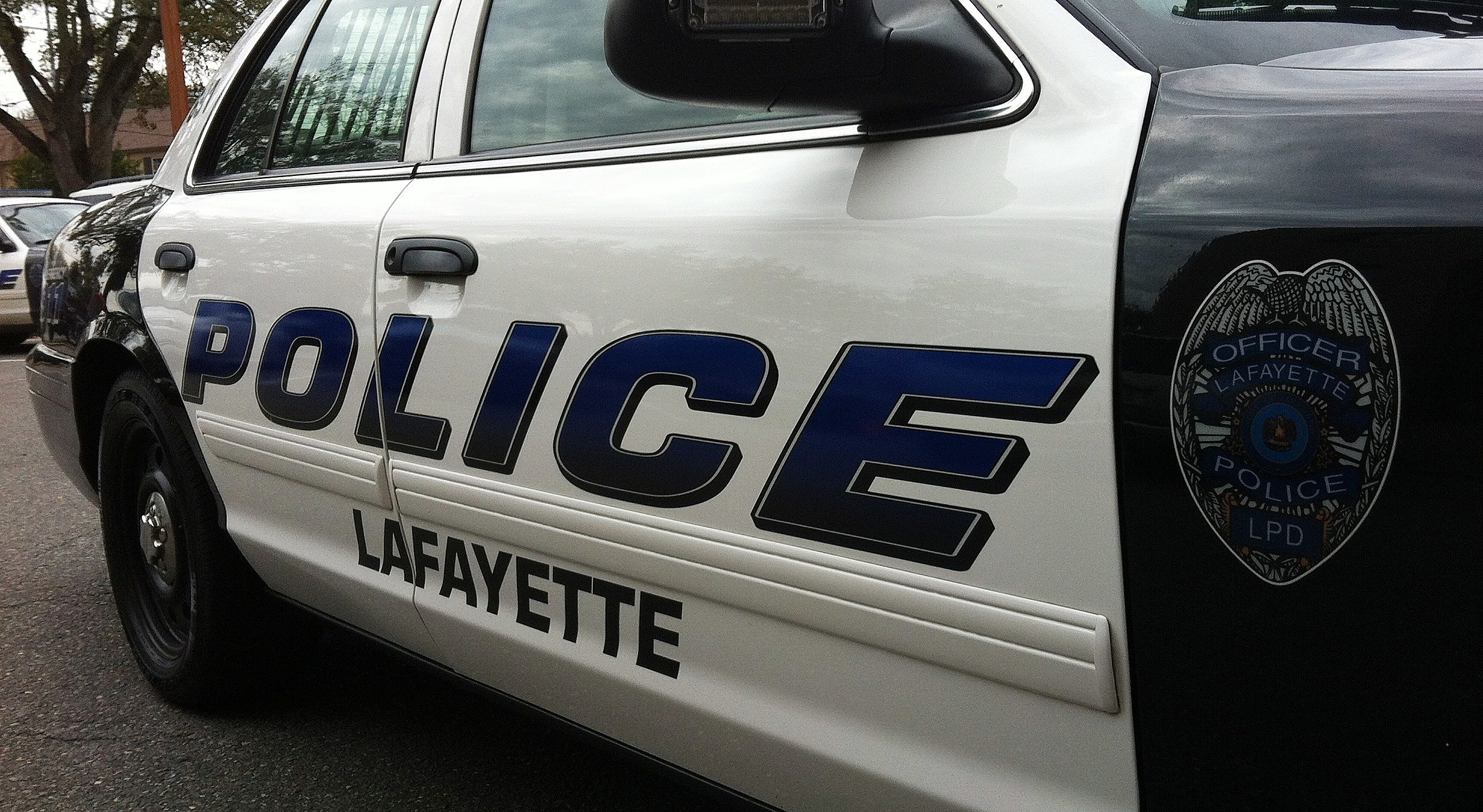Lafayette Police Car KPEL staff photo