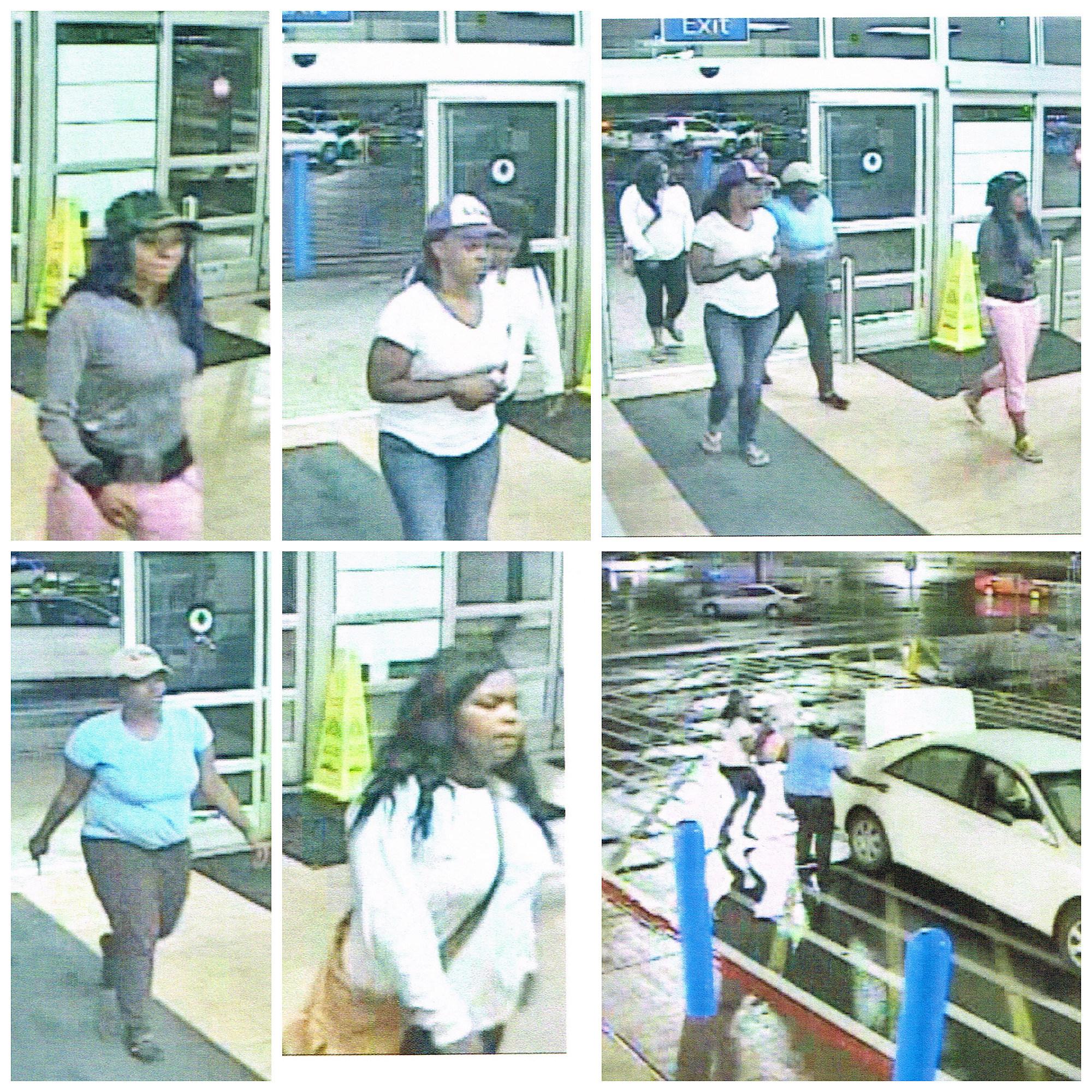shoplifting suspects caught on walmart surveillance cameras