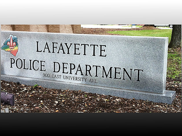 Lafayette Police Dept sign staff photo