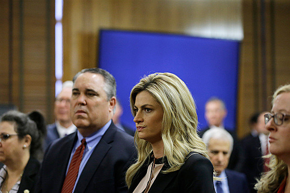 Erin Andrews (Photo by Mark Humphrey-Pool/Getty Images)Erin Andrews Getty Images