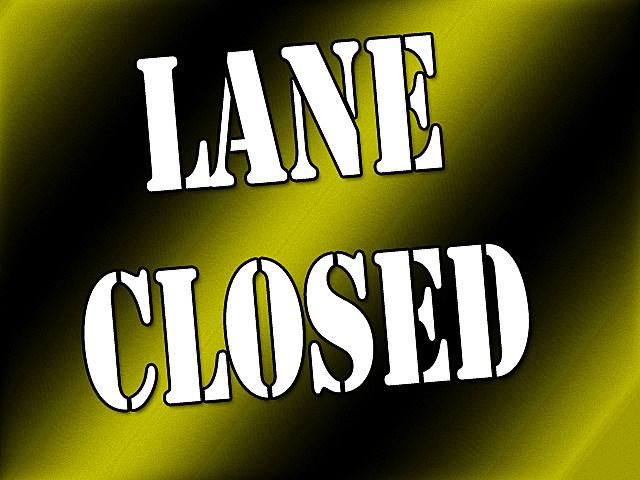 Lane closed yellow and black, staff design