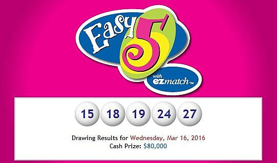 Winning 'Easy 5' Lottery Ticket Sold In Acadiana