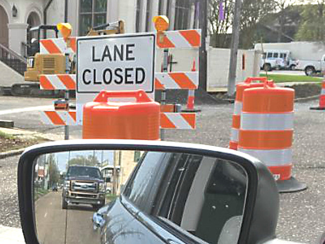 Lane Closed, KPEL Staff Photo