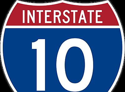 I-10 Road Sign