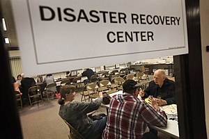 Disaster Recovery Center, (Photo by Scott Olson/Getty Images)