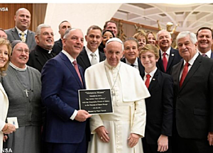 Gov. Edwards at Vatican, courtesy of Vatican Radio