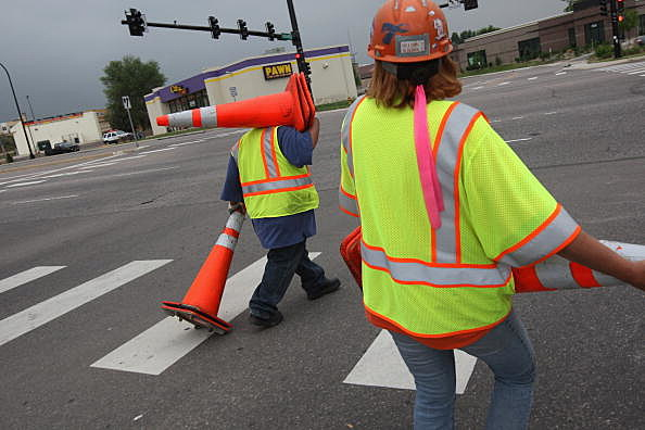 Road Closure picture, (Photo by John Moore/Getty Images)