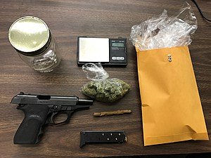 Drug Arrest, photo from St. Mary Parish Sheriff's Office