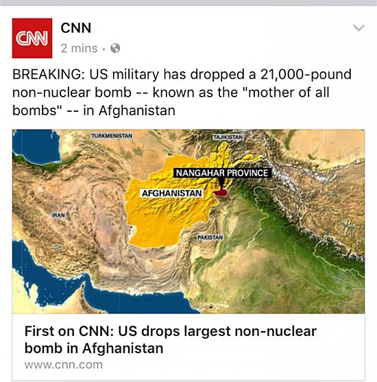 MOAB Headline CNN