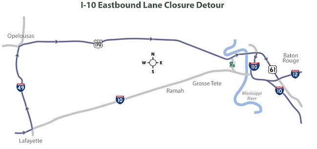 I-10 Lane Closure