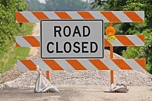 Road Closed Sign, Thinkstock