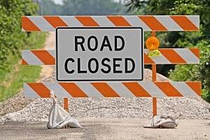 Road Closed Sign, Thinkstock