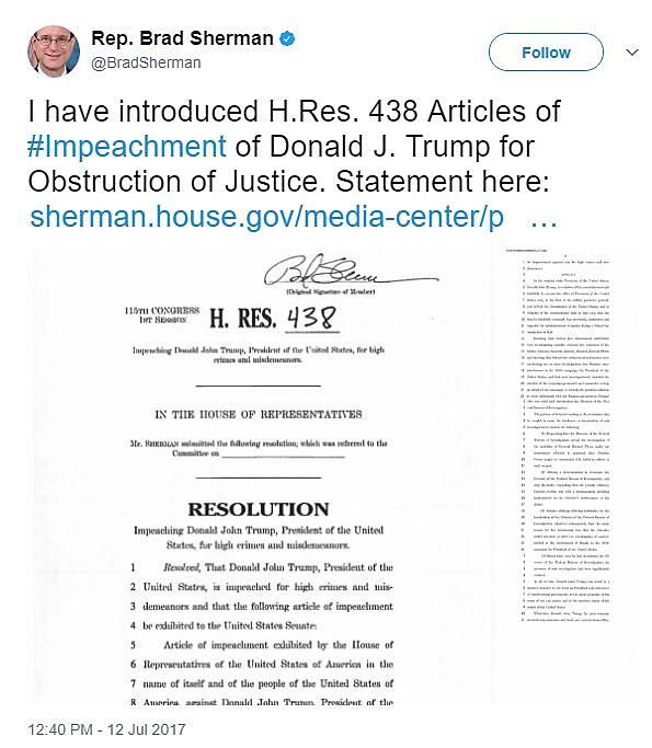 Rep. Brad Sherman, twitter